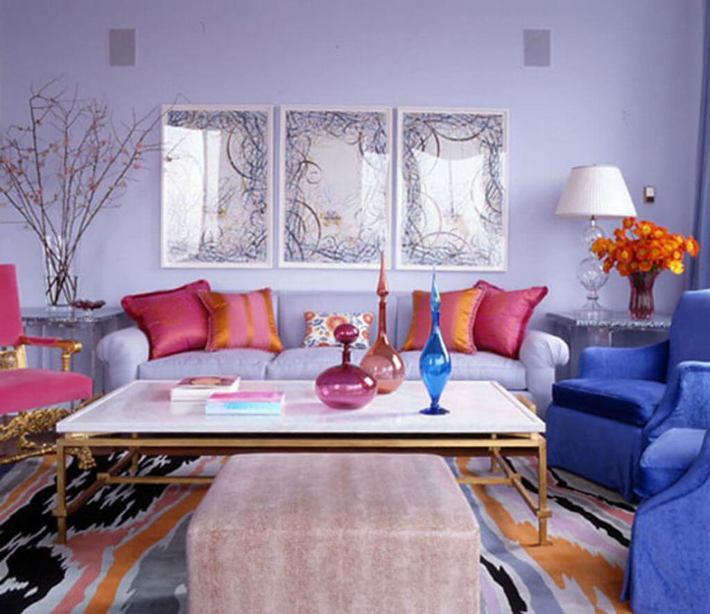 bright color decor