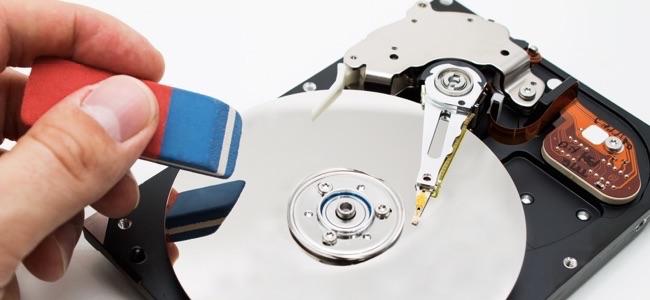 Hard disk drive data erase metaphor .