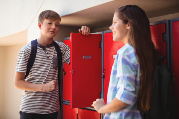 Personal lockers for storing personal effects