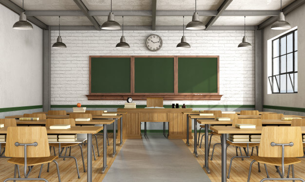 Different kinds of furniture used in schools