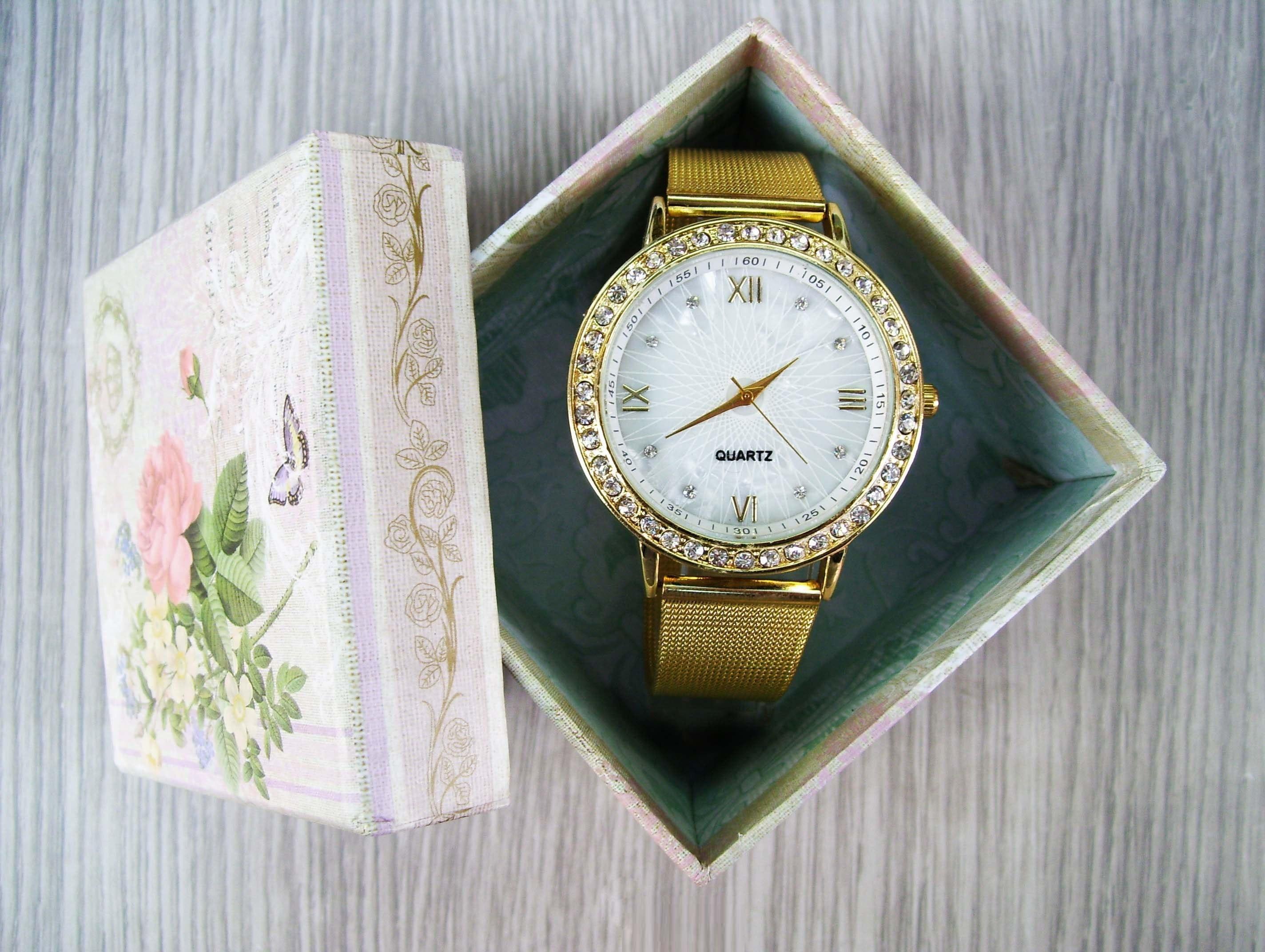 Rose Gold Dial Ladies Watch