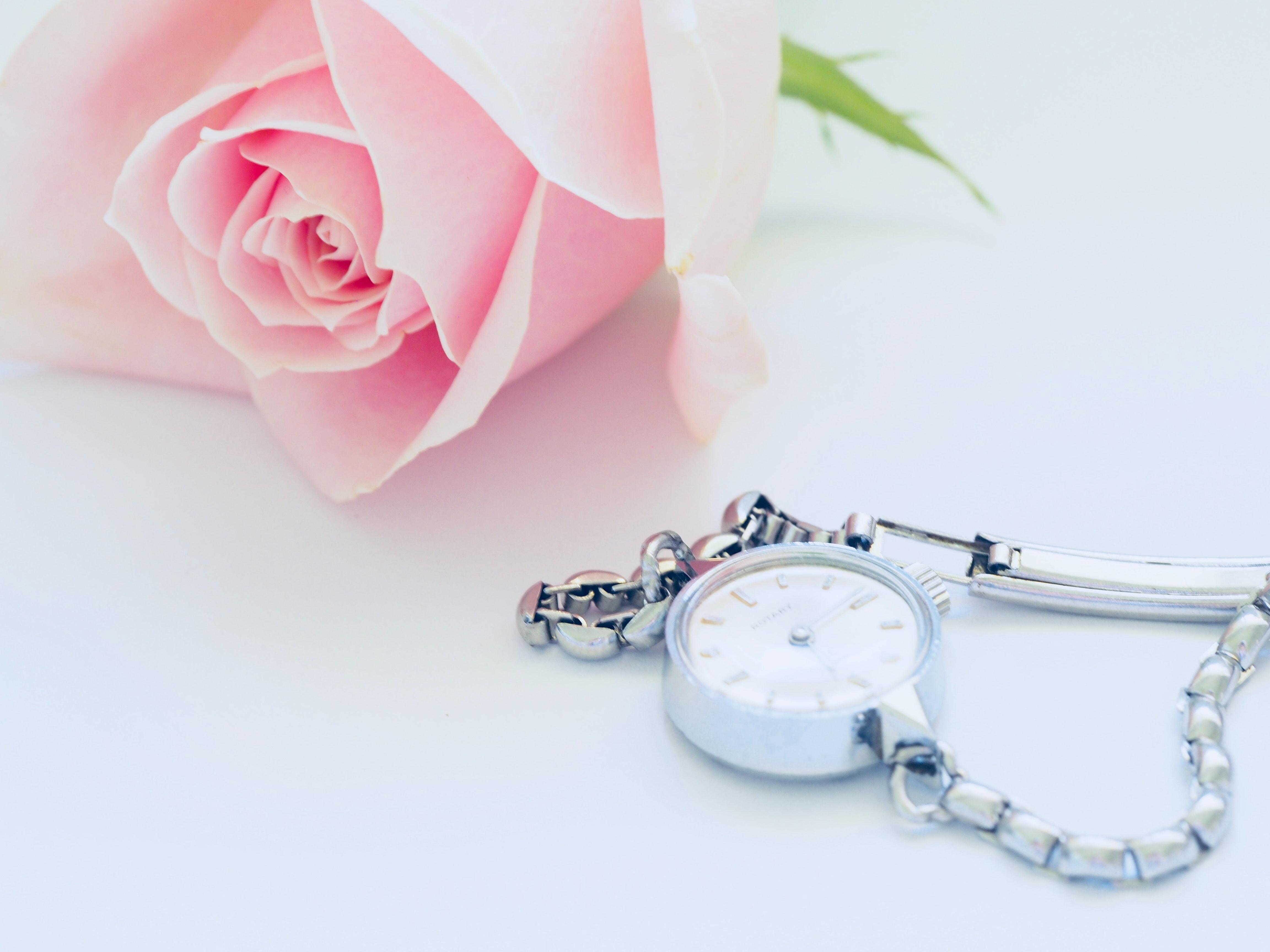 Silver Dial Women's Watch