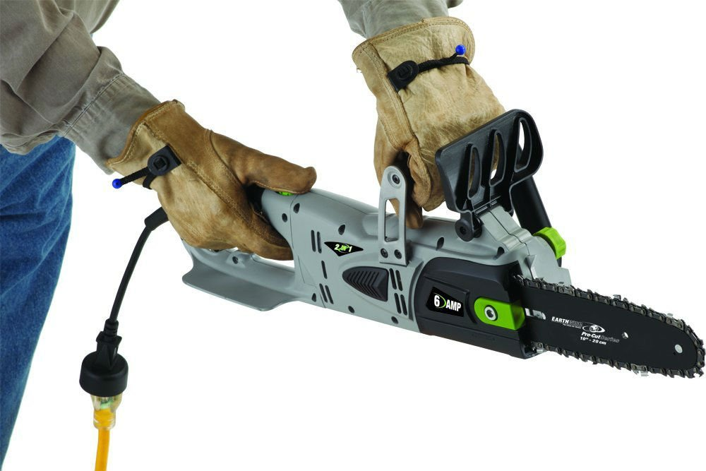 Corded electric powered chainsaws