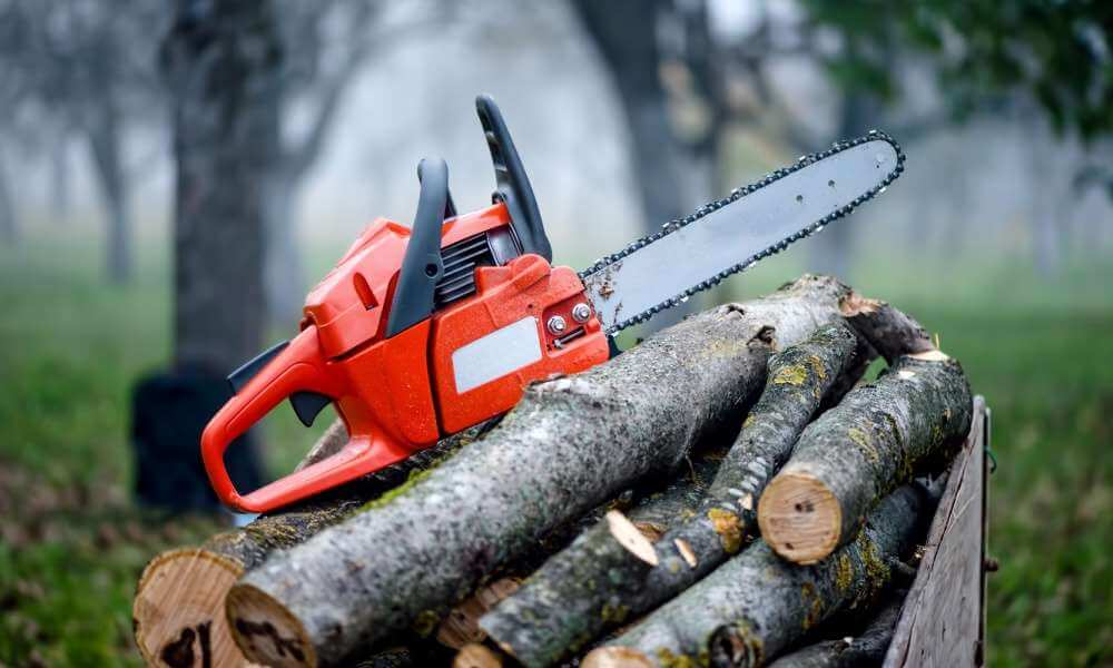 Manually powered chainsaws