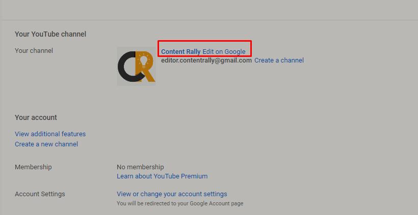 Change Your YouTube Name
