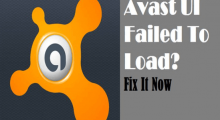 Avast UI failed to load