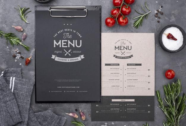 Experience in menu creation: