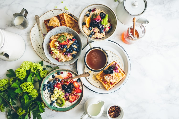 7. Start your day on a heavy breakfast